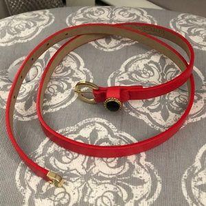 Kensie   Red Skinny Belt